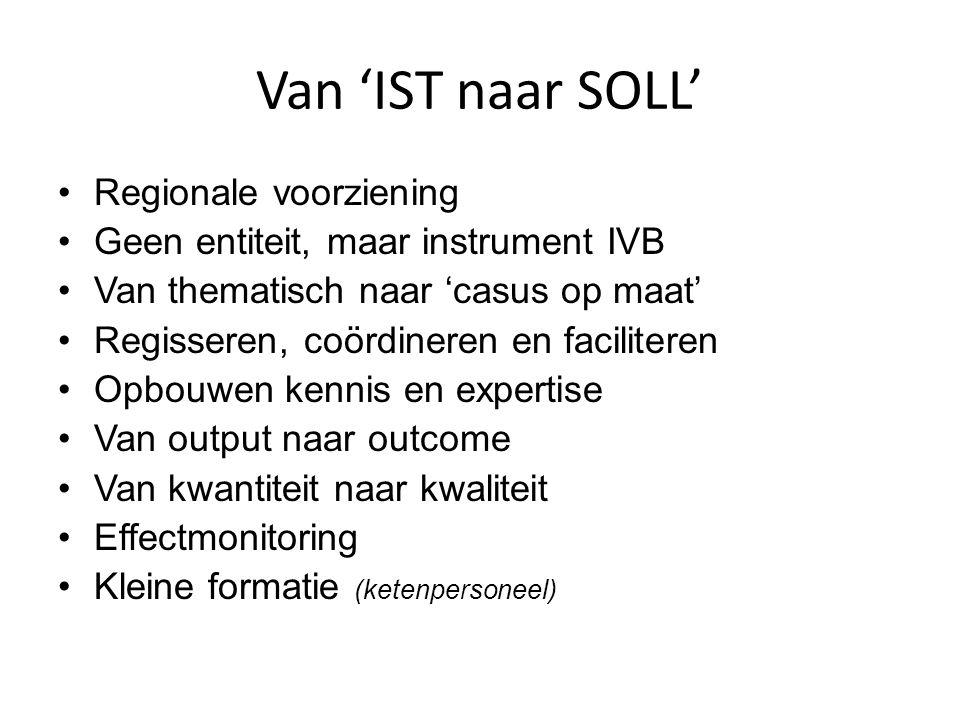 Van 'IST naar SOLL' Regionale voorziening