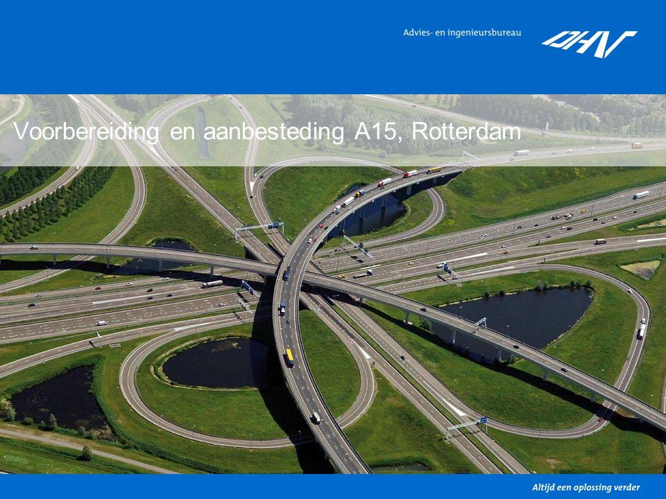 Voorbereiding en aanbesteding A15, Rotterdam