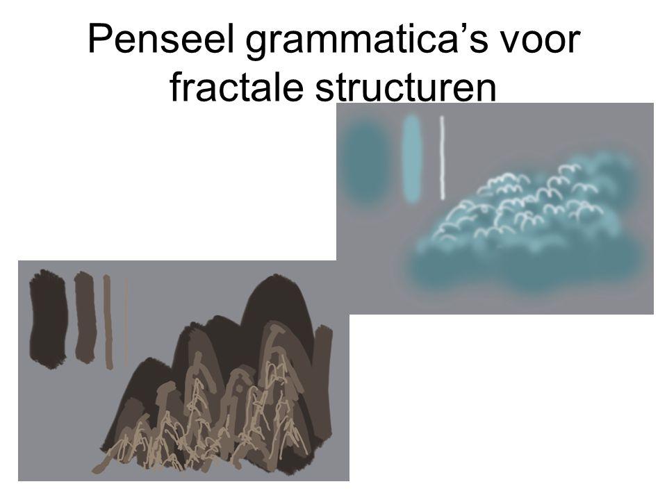 Penseel grammatica's voor fractale structuren