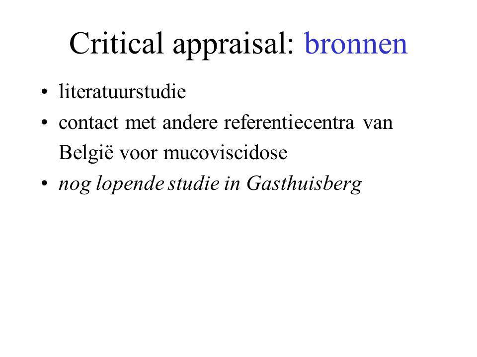 Critical appraisal: bronnen