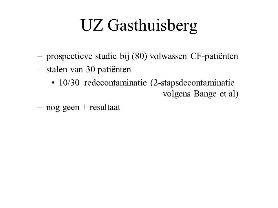 UZ Gasthuisberg prospectieve studie bij (80) volwassen CF-patiënten