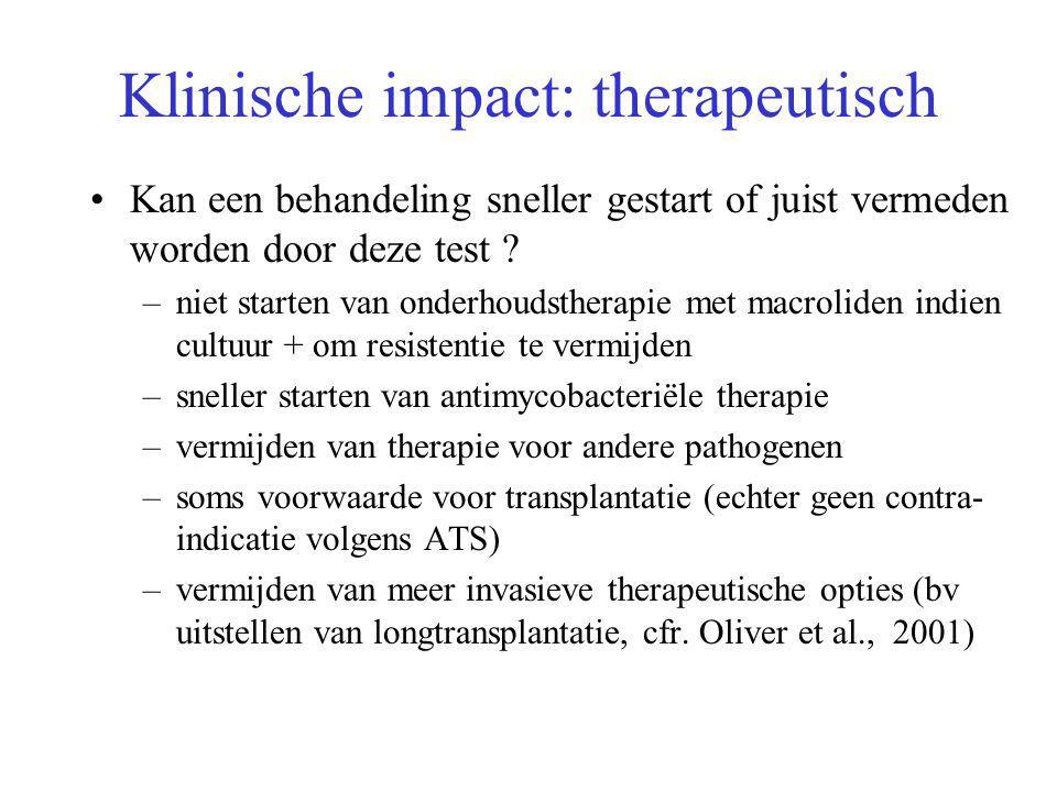 Klinische impact: therapeutisch