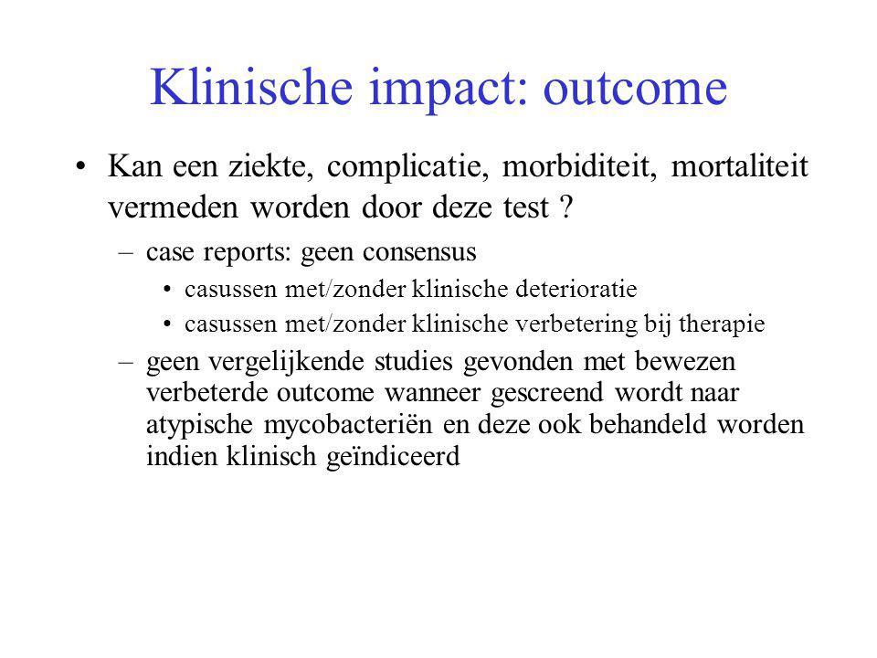 Klinische impact: outcome