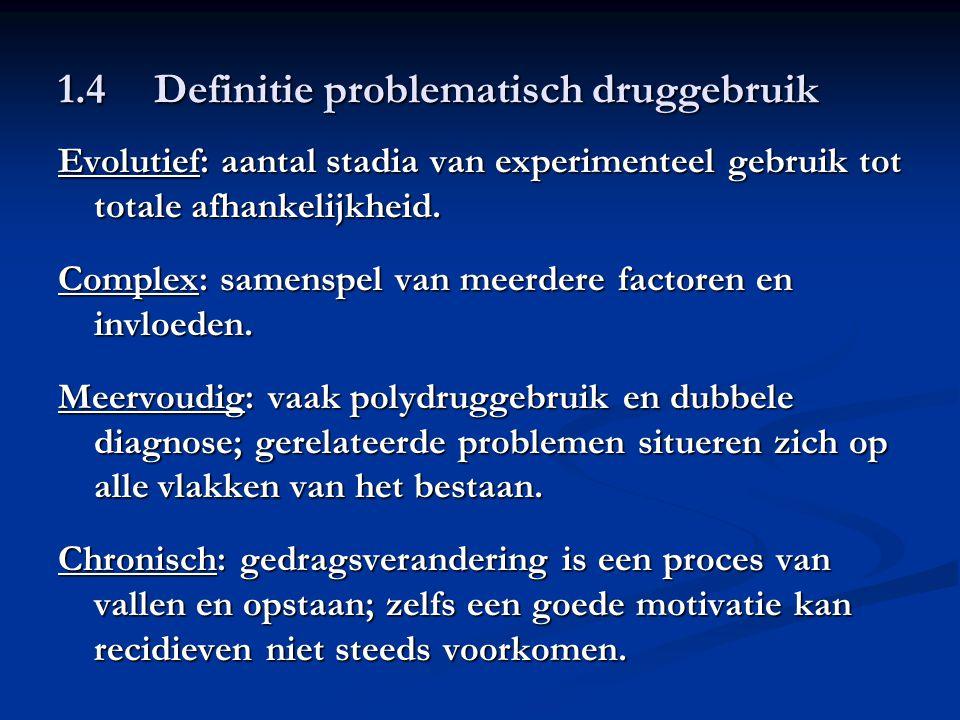 1.4 Definitie problematisch druggebruik