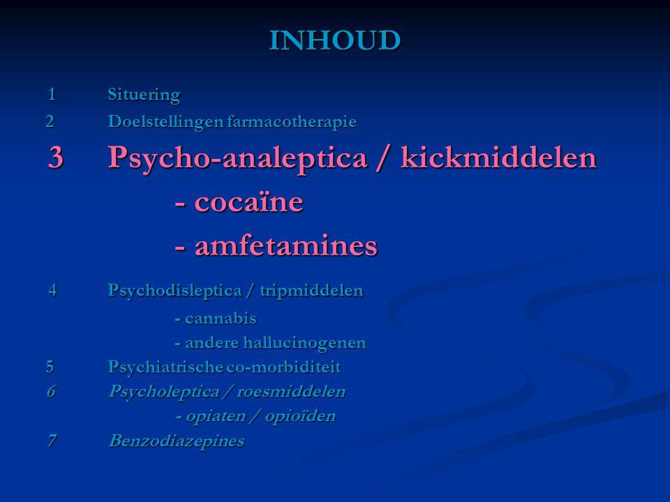 - cocaïne - amfetamines INHOUD 1 Situering