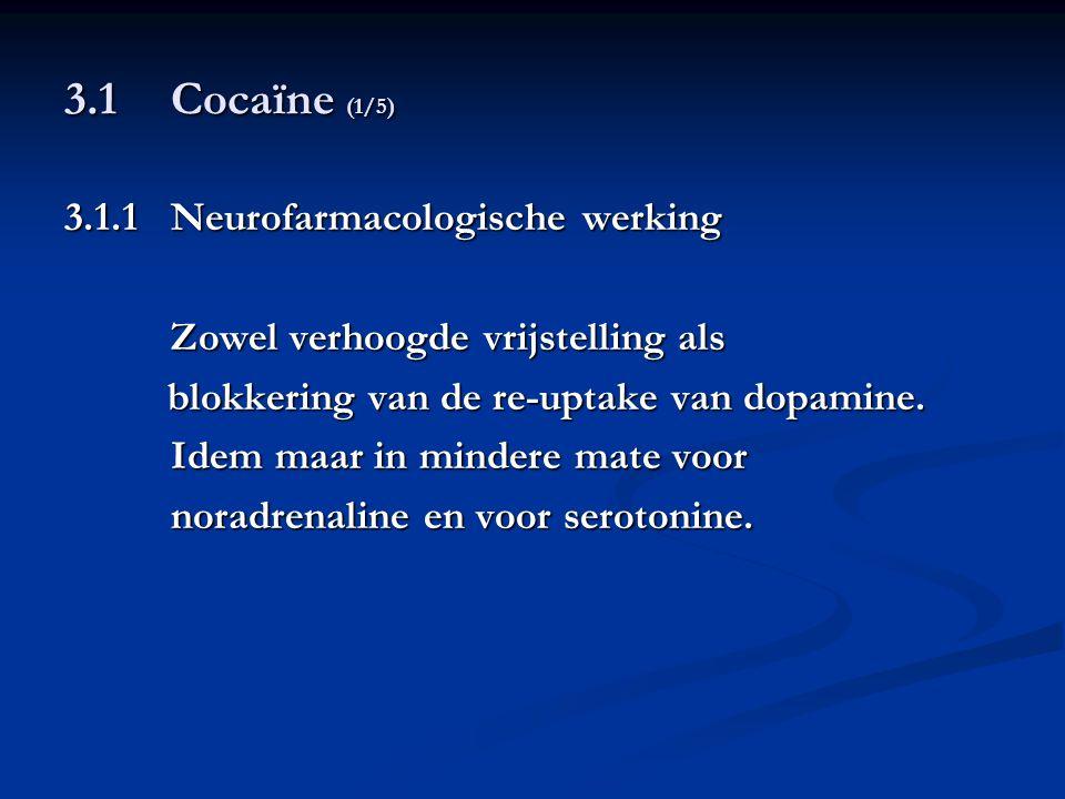 3.1 Cocaïne (1/5) 3.1.1 Neurofarmacologische werking