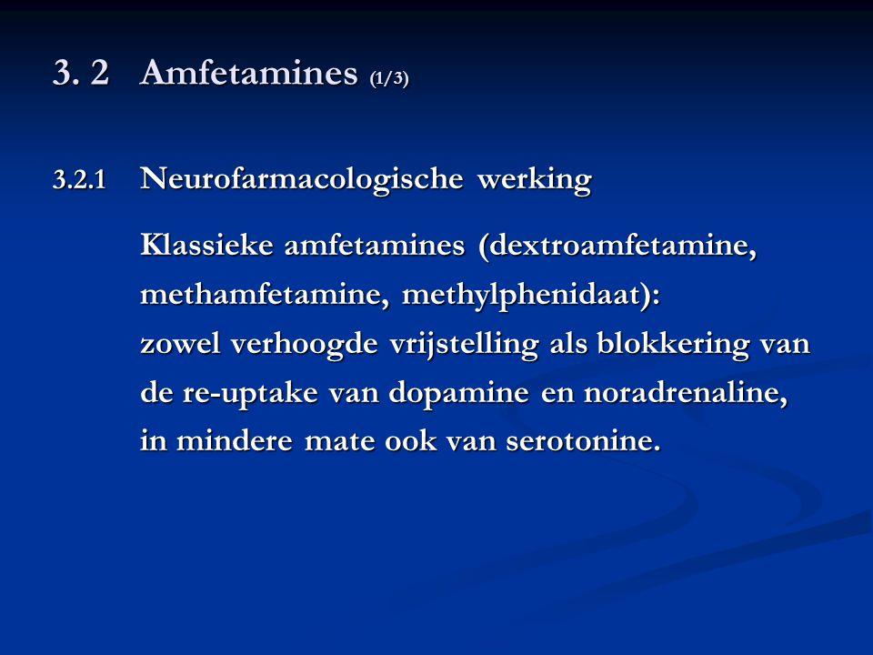 3. 2 Amfetamines (1/3) Klassieke amfetamines (dextroamfetamine,