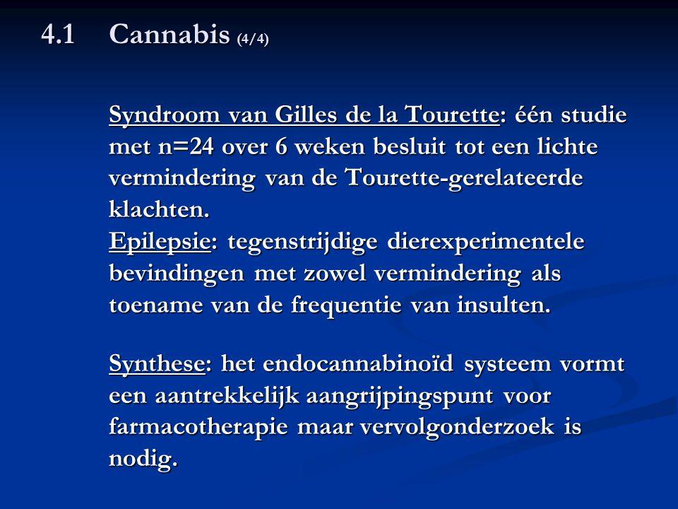 4.1 Cannabis (4/4) Syndroom van Gilles de la Tourette: één studie