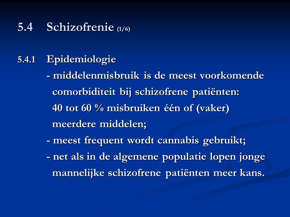 5.4 Schizofrenie (1/6) - middelenmisbruik is de meest voorkomende