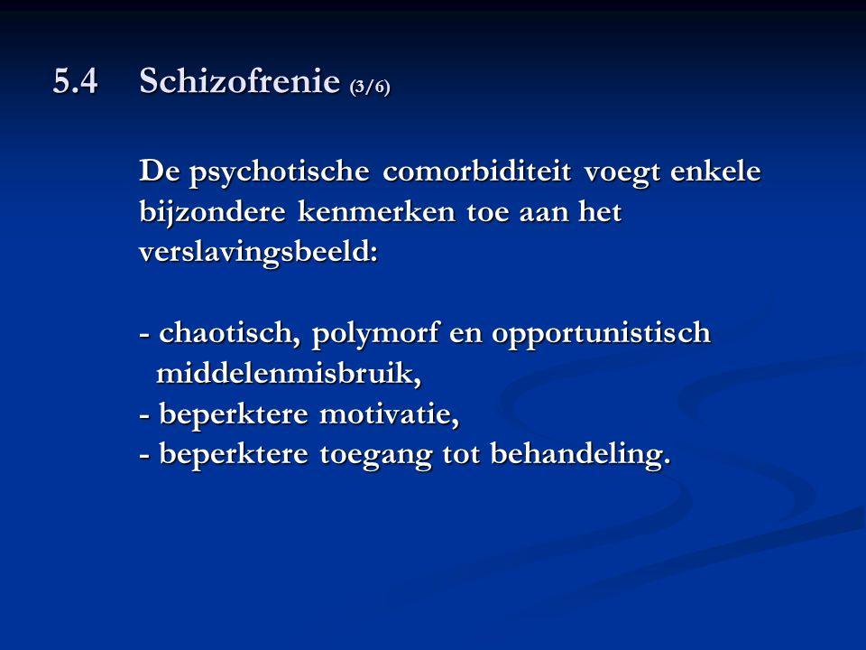 5.4 Schizofrenie (3/6) De psychotische comorbiditeit voegt enkele