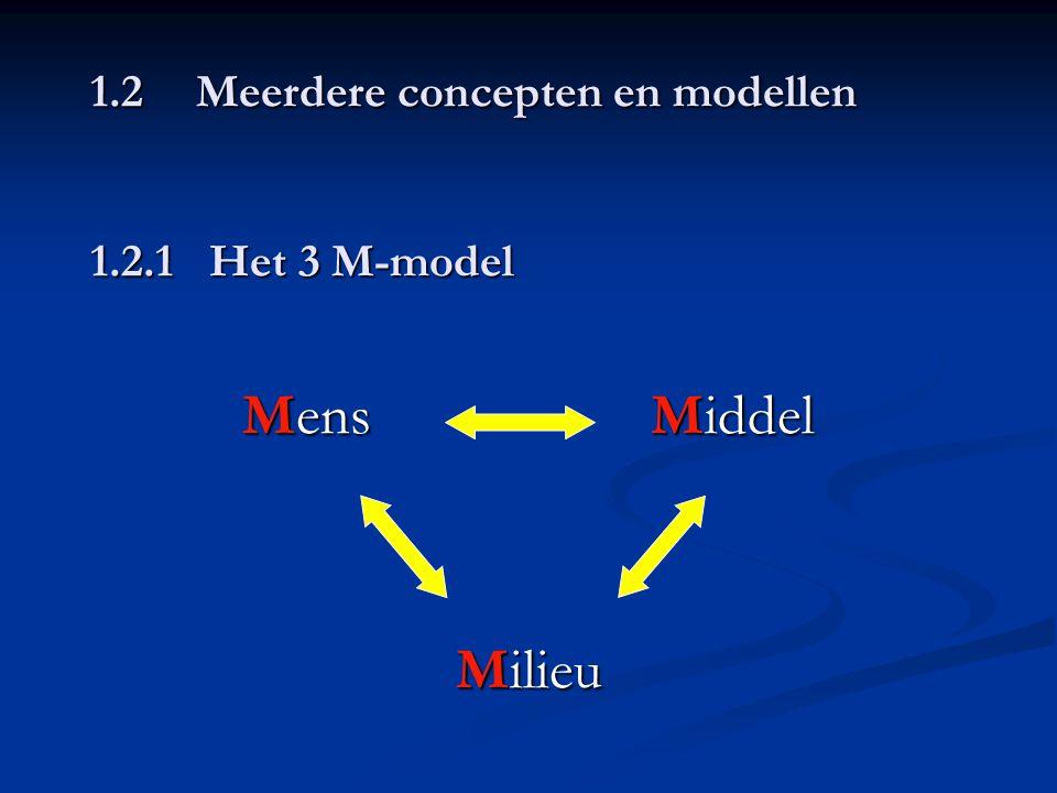 1.2 Meerdere concepten en modellen 1.2.1 Het 3 M-model