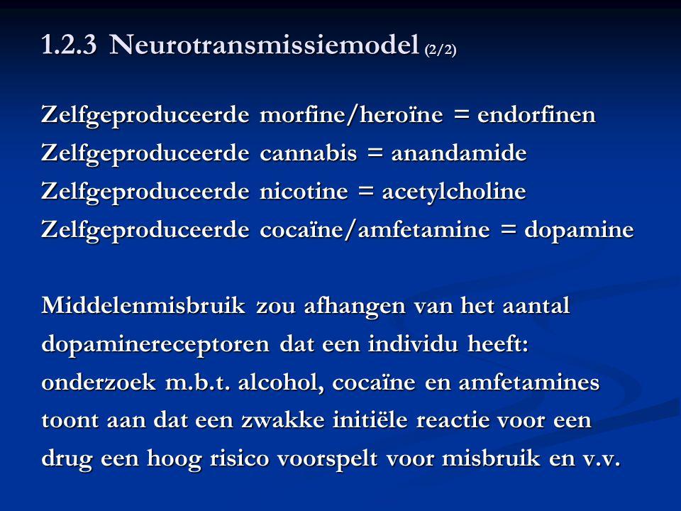 1.2.3 Neurotransmissiemodel (2/2)