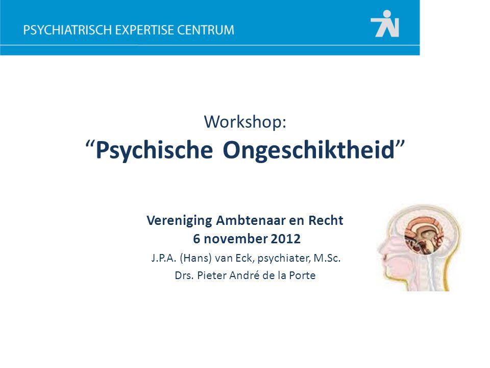Workshop: Psychische Ongeschiktheid