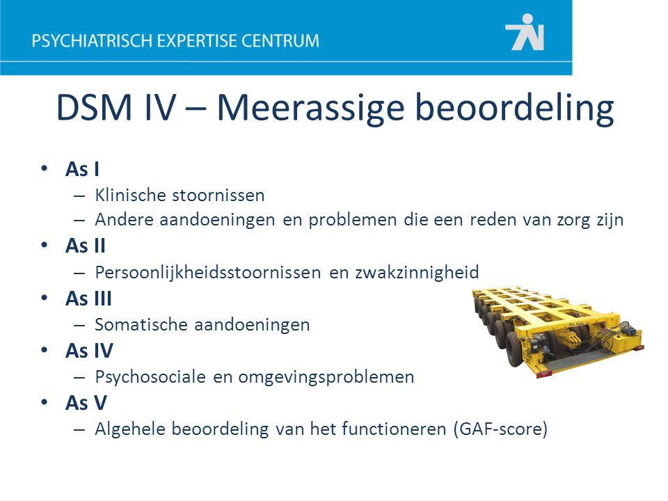 DSM IV – Meerassige beoordeling