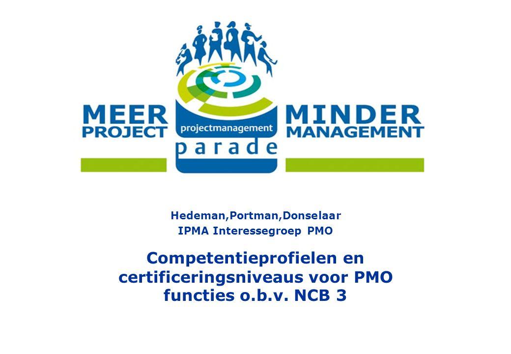 Hedeman,Portman,Donselaar IPMA Interessegroep PMO