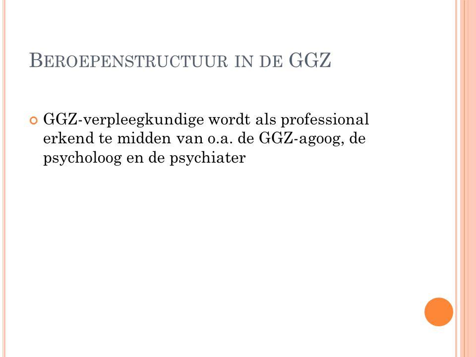 Beroepenstructuur in de GGZ