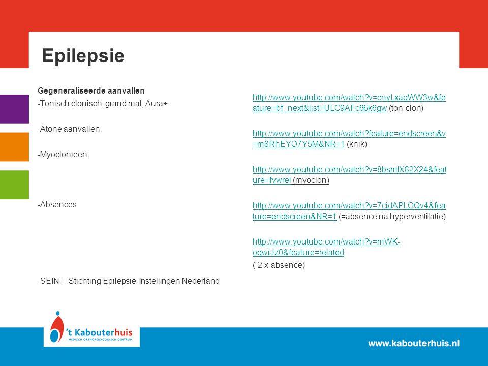 Epilepsie Gegeneraliseerde aanvallen