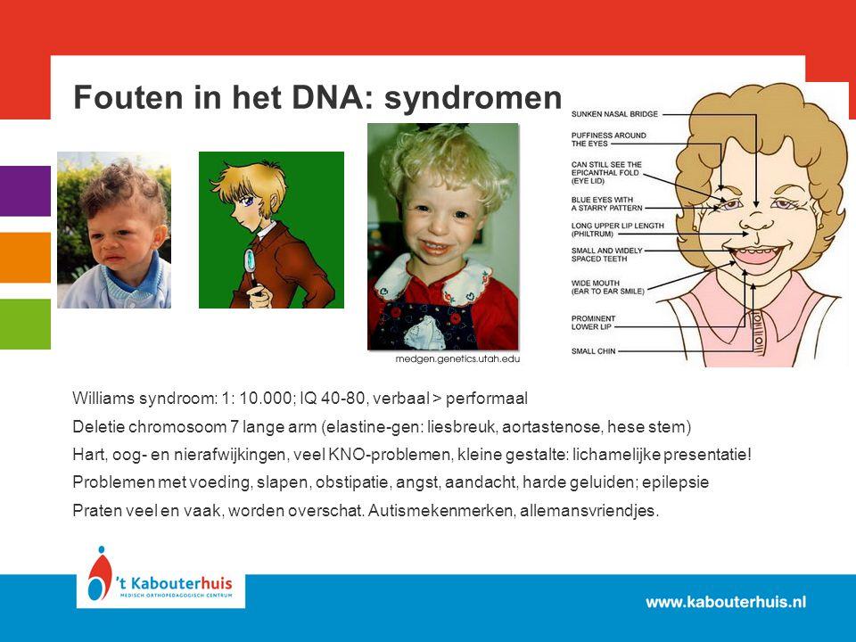 Fouten in het DNA: syndromen