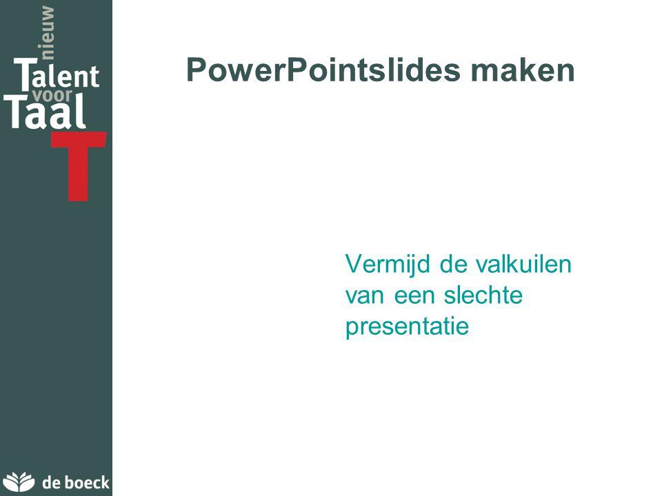 PowerPointslides maken