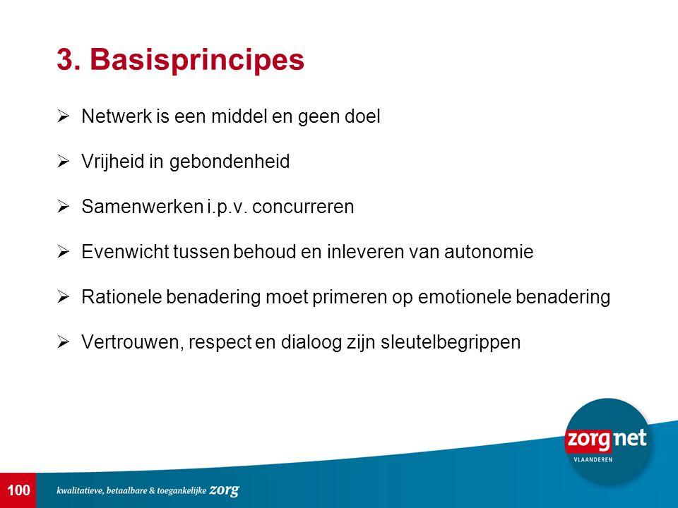 3. Basisprincipes Netwerk is een middel en geen doel