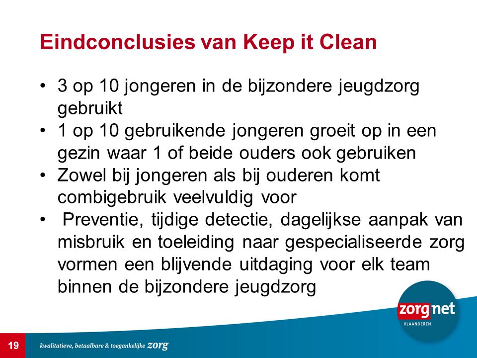 Eindconclusies van Keep it Clean