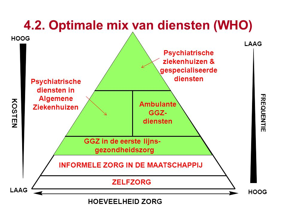 4.2. Optimale mix van diensten (WHO)
