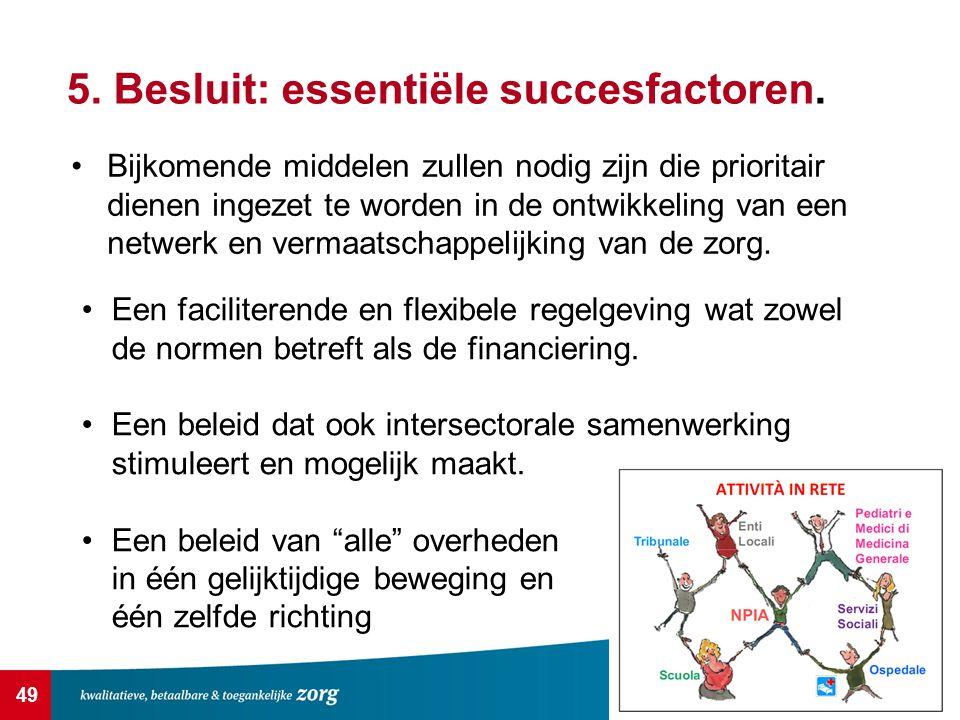 5. Besluit: essentiële succesfactoren.