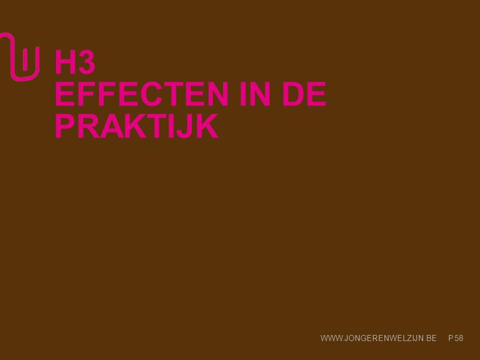 H3 EFFECTEN IN DE PRAKTIJK