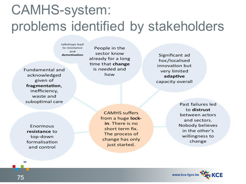 CAMHS-system: problems identified by stakeholders