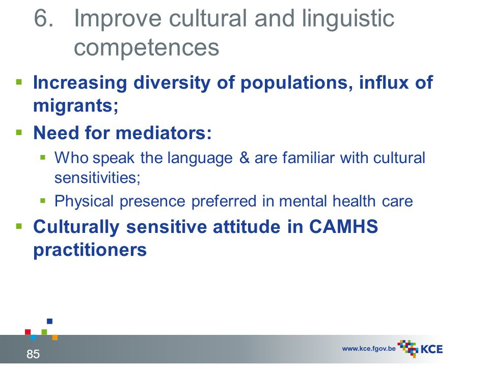 Improve cultural and linguistic competences