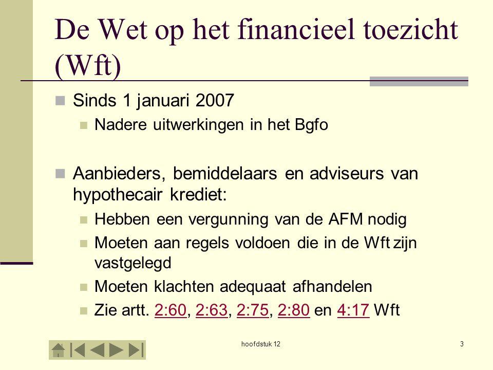 De Wet op het financieel toezicht (Wft)