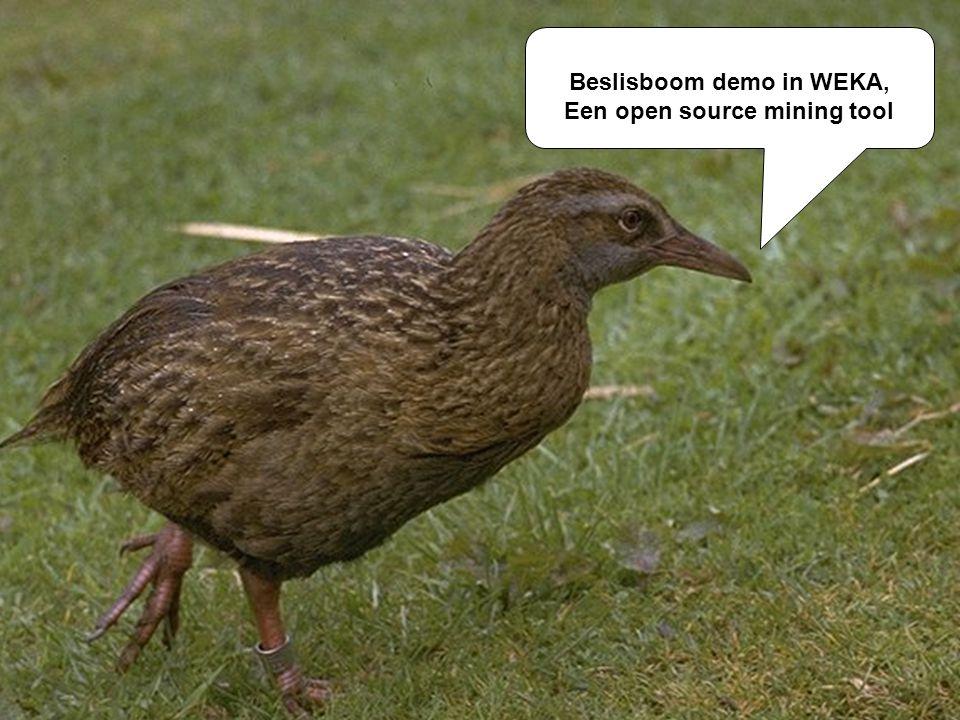 Beslisboom demo in WEKA, Een open source mining tool