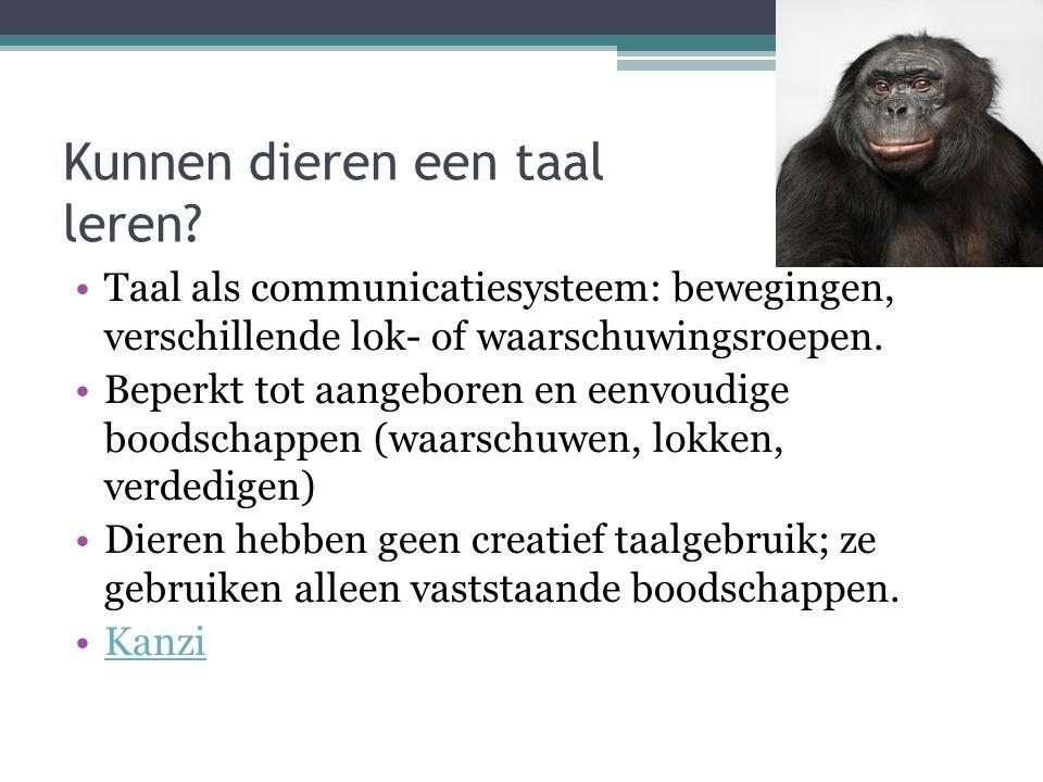 Kunnen dieren een taal leren