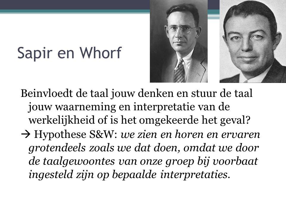 Sapir en Whorf