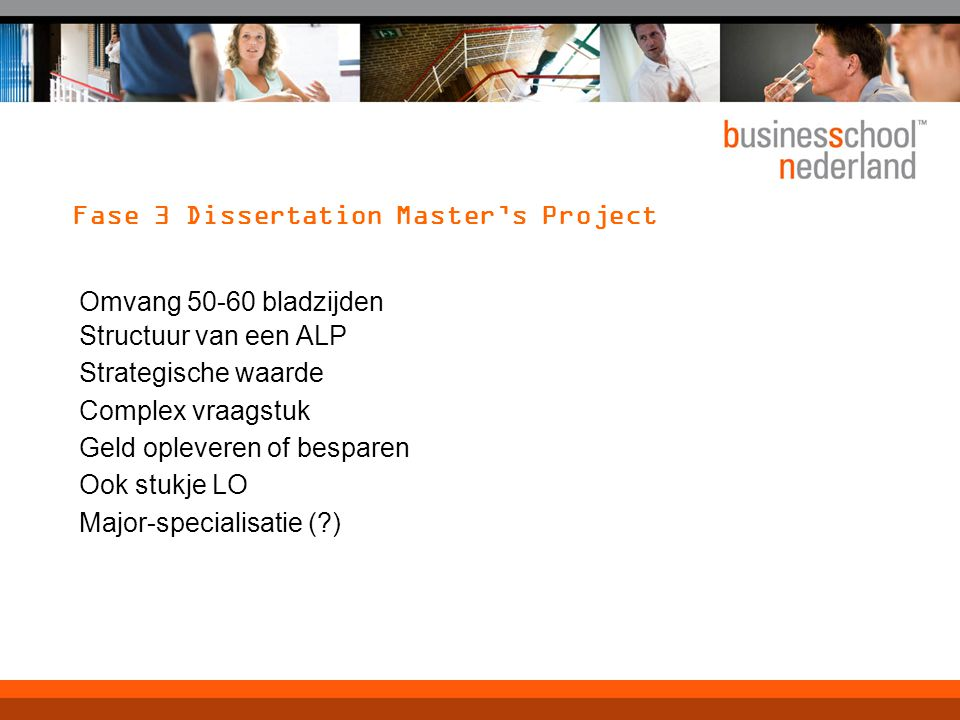 Fase 3 Dissertation Master's Project