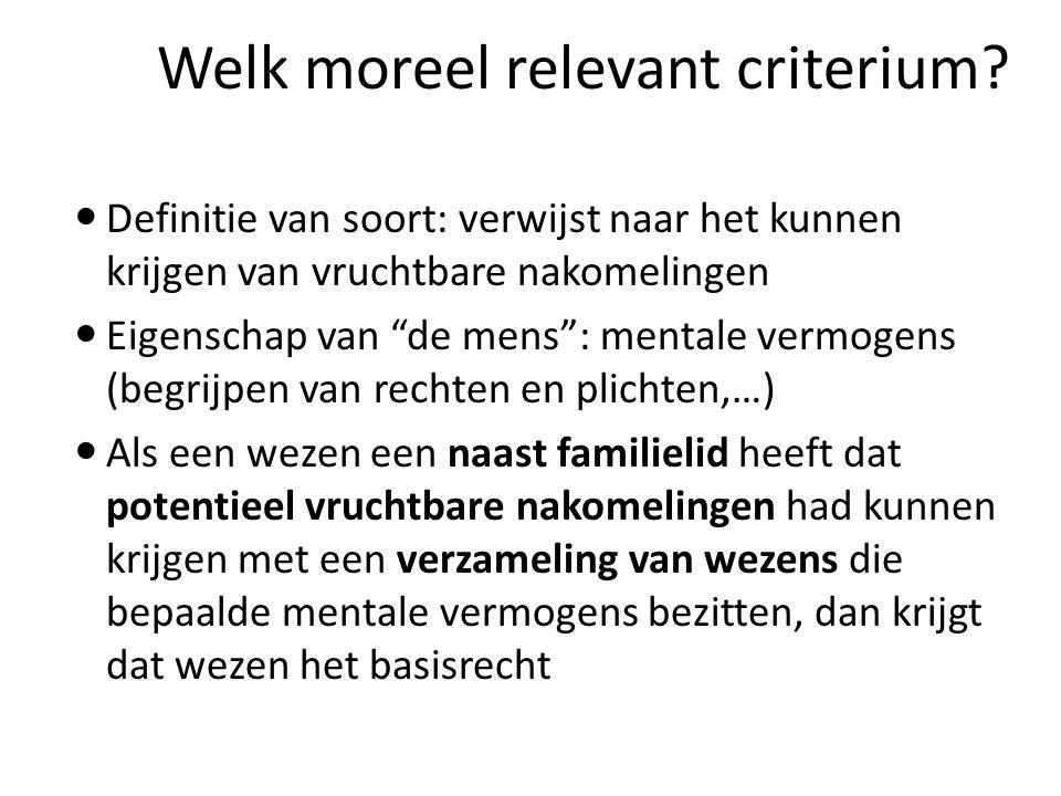 Welk moreel relevant criterium