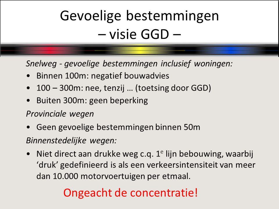 Gevoelige bestemmingen – visie GGD –