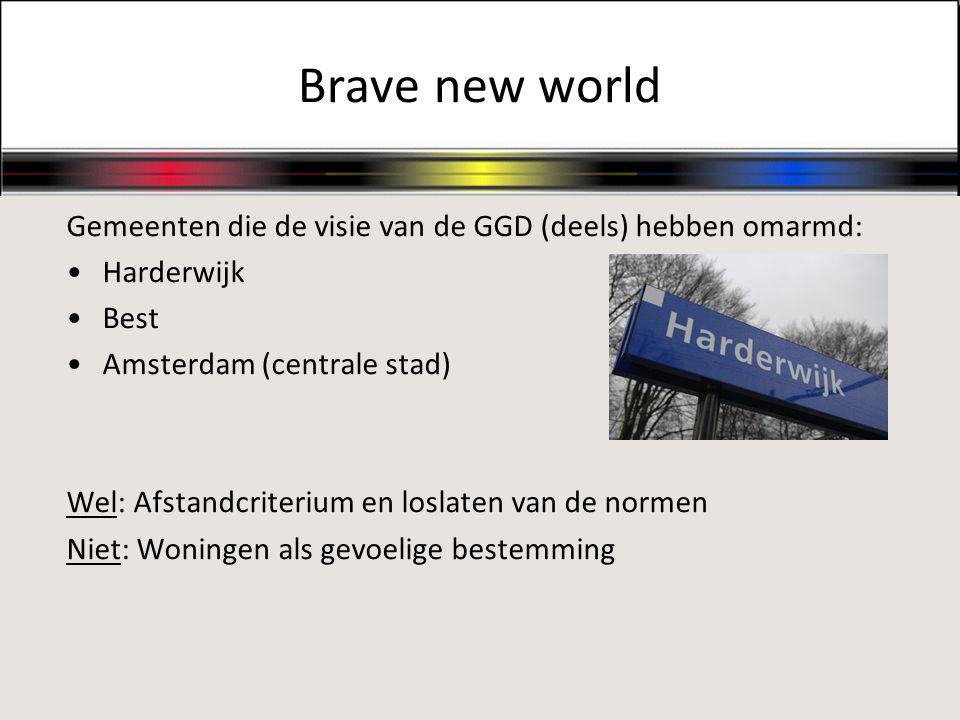 Brave new world Gemeenten die de visie van de GGD (deels) hebben omarmd: Harderwijk. Best. Amsterdam (centrale stad)