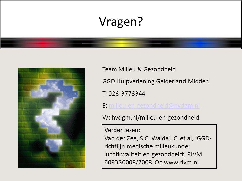 Vragen Team Milieu & Gezondheid GGD Hulpverlening Gelderland Midden
