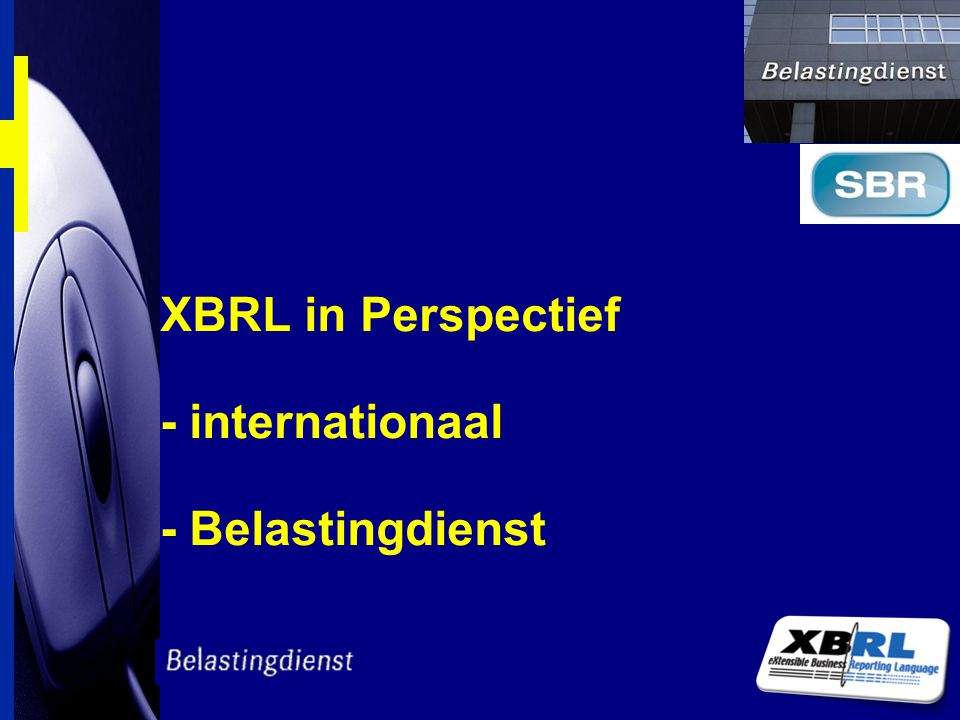XBRL in Perspectief - internationaal - Belastingdienst
