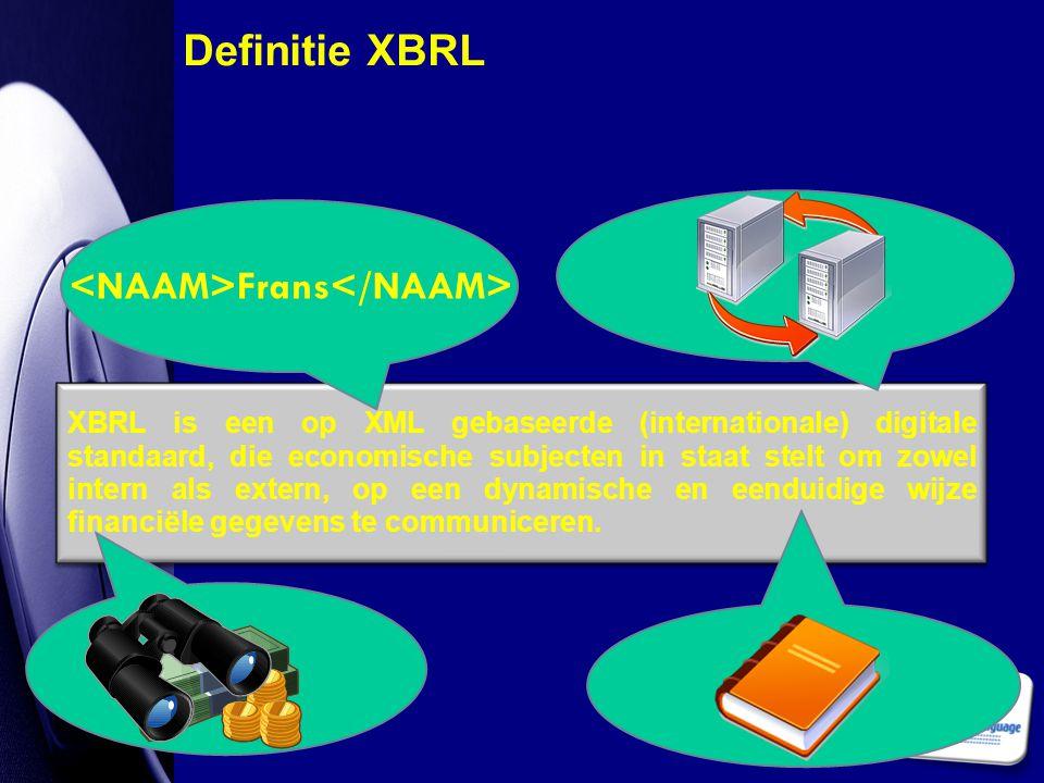 Definitie XBRL <NAAM>Frans</NAAM>