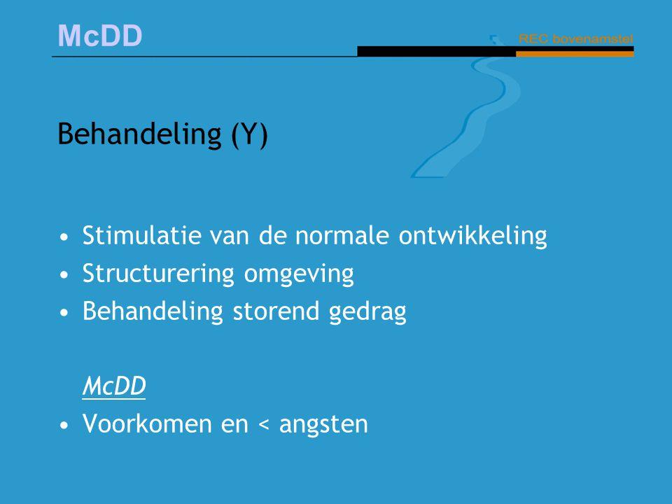 Behandeling (Y) Stimulatie van de normale ontwikkeling