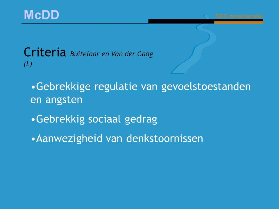 Criteria Buitelaar en Van der Gaag (L)