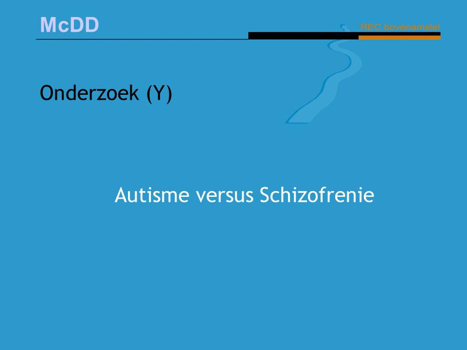 Autisme versus Schizofrenie
