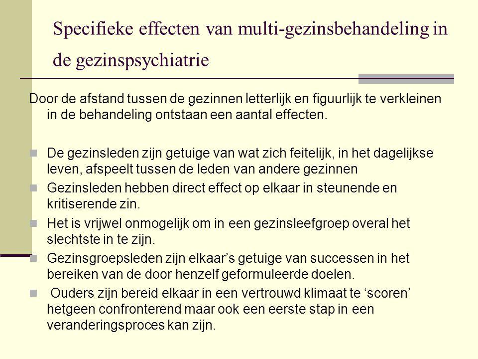 Specifieke effecten van multi-gezinsbehandeling in de gezinspsychiatrie