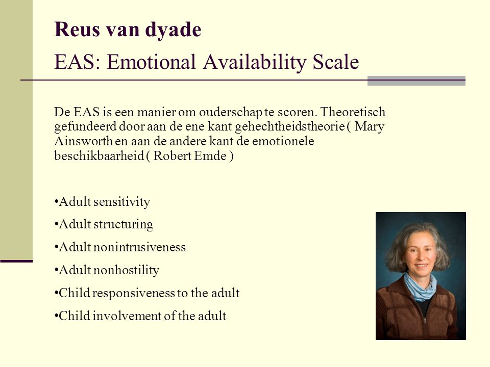 Reus van dyade EAS: Emotional Availability Scale