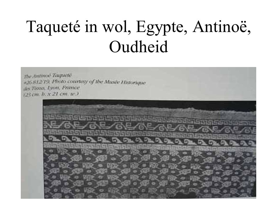 Taqueté in wol, Egypte, Antinoë, Oudheid