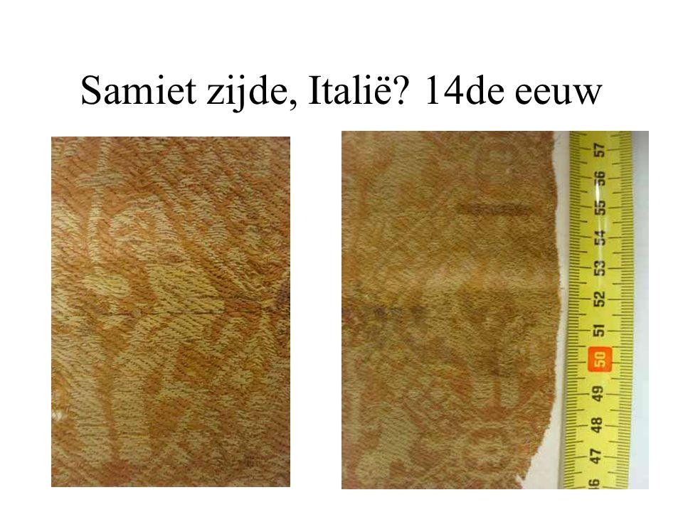 Samiet zijde, Italië 14de eeuw