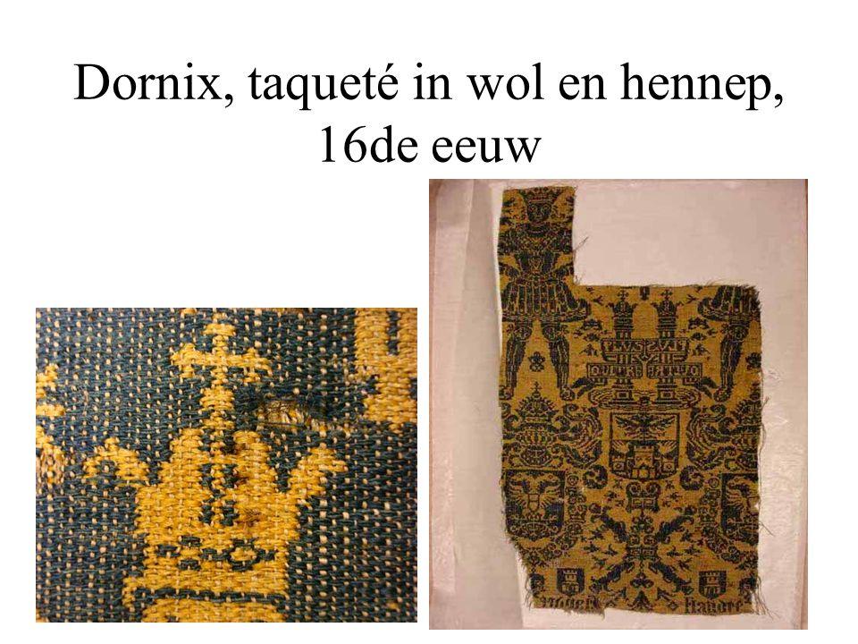 Dornix, taqueté in wol en hennep, 16de eeuw