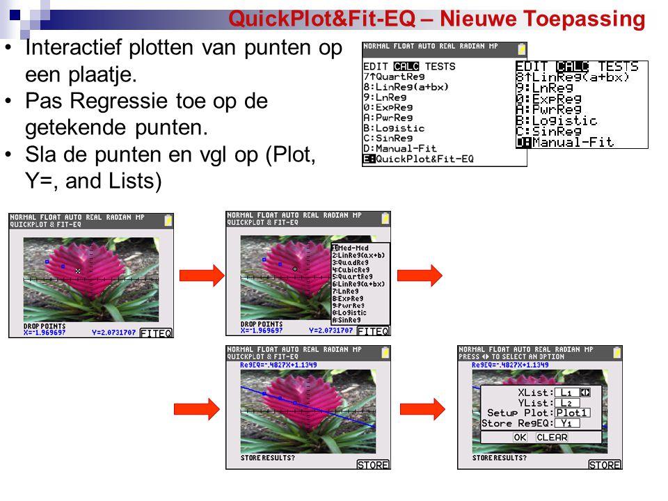 QuickPlot&Fit-EQ – Nieuwe Toepassing